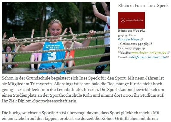 Ein toller Artikel über rhein-in-form bei meine Südstadt.de