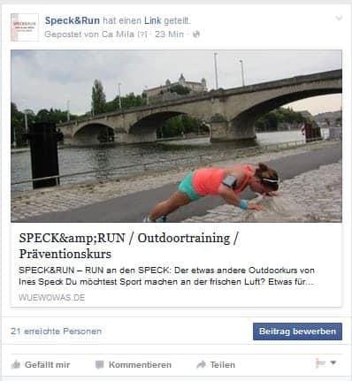 SPECK&RUN in Würzburg bei wuewowas