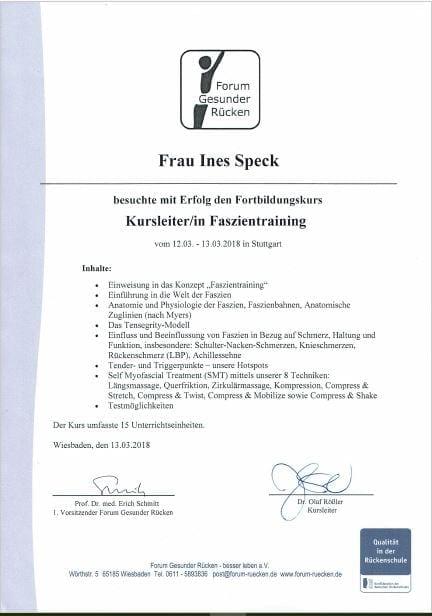 Faszientraining-zertifiziert nach §20, neu bei rhein-in-form im Firmenfitness-Angebot