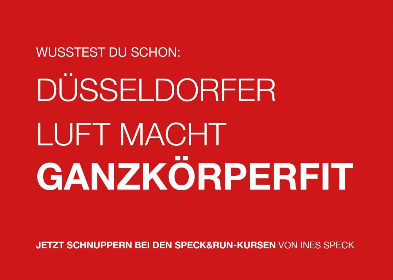 Herbstausgabe SPECK&RUN Outdoor Fitness in Düsseldorf